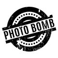 Photo Bomb rubber stamp