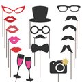 Photo booth props for weddings, party.