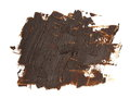 Photo brown grunge brush strokes oil paint isolated on white Royalty Free Stock Photo
