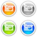 Photo buttons. Stock Image