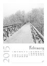 Photo calendar with minimalist cityscape and bridge february Royalty Free Stock Photos