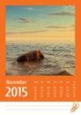 2015 photo calendar. November.