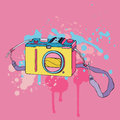 Photo camera hand drawn vector illustration Royalty Free Stock Photo