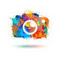 Photo camera icon. Splash paint Royalty Free Stock Photo