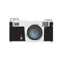 Photo camera isolated on white this is file of eps format Royalty Free Stock Image