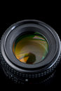 Photo camera lens. Royalty Free Stock Images