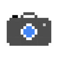 Photo camera pixel art cartoon retro game style