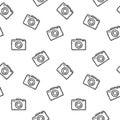 Photo camera seamless pattern.Vector illustration cameras