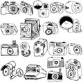 Photo camera sketch Stock Images