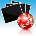 Photo cards illustration and christmas toy Royalty Free Stock Images