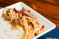 Photo chinese food beef bamboo shoots Royalty Free Stock Photo