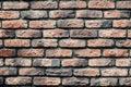 Photo of close-up of red brick wall