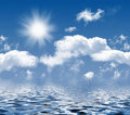 Photo of clouds and sun Royalty Free Stock Photo
