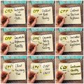 Photo collage of handwritten business acronyms