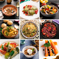 Photo collage of vegetarian food Royalty Free Stock Photo