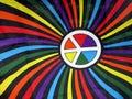 Farbistý pýcha vlajka