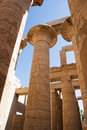 Photo of Columns at Karnak Temple, Luxor, Egypt Royalty Free Stock Image