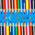 Photo of the concept of returning to school Royalty Free Stock Image