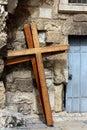 Photo crucifixion crosses street old city jerusalem israel Royalty Free Stock Photo