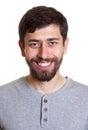 Photo de passeport d un jeune homme avec la barbe Images libres de droits
