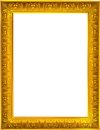 Photo design of gold photo frame on white background Royalty Free Stock Photos