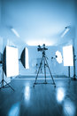 Photo of an empty photographic and video  studio. Royalty Free Stock Image