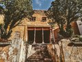 stock image of  Close up to creepy abandoned house in Hidalgo del Parral