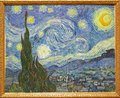 Photo of the famous original painting The starry night by Vincent Van Gogh