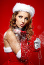 Photo of fashion Christmas girl Stock Photos
