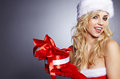 Photo of fashion Christmas girl Stock Photography