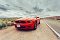 Photo of a ford mustang convertible arches utah usa june version at arches utah usa the fifth generation began with the model year Royalty Free Stock Photo
