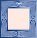 Photo Frame from an abstract symmetric colored Royalty Free Stock Photography