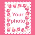 Photo frame for baby with nipples Royalty Free Stock Photography