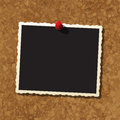 Photo frame on coark board cork Royalty Free Stock Photography