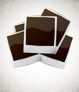 Photo frame on floral background Royalty Free Stock Photos