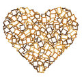 Photo frame heart shape Royalty Free Stock Images