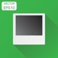 Photo frame icon. Business concept photograph pictogram. Vector