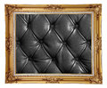 Photo frame leather with black texture Stock Image