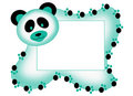 Photo frame with panda Stock Photography
