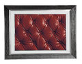 Photo frame with red leather isolated silver modern texture Royalty Free Stock Images