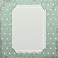 Photo frame on retro background Royalty Free Stock Image