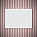 Photo frame simple on vintage wall Royalty Free Stock Photo