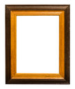 Photo frame wood border picture brown yellow color Royalty Free Stock Photos