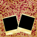 Photo frames and hearts Stock Image