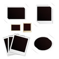 Photo frames polaroid vintage set eps Royalty Free Stock Image