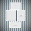 Photo frames set of on vintage background Royalty Free Stock Image