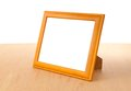 Photo frames on the table Royalty Free Stock Photo