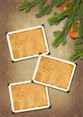 Photo-framework retro on old paper. Royalty Free Stock Photo