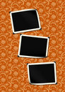 Photo-framework retro on vintage background 10. Royalty Free Stock Photo