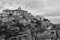 Photo of gord black and white city in provence france Stock Photo
